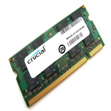 MEMOIRE SO-DIMM DDR2 2 Go 667Mhz Crucial Compatible MAC