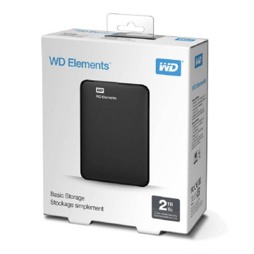"HDD EXTERNE 2.5"" 2 To WESTERN DIGITAL Elements USB 3 - Noir - Taxe Sorecop Incluse (Garantie 2 Ans Constructeur)"