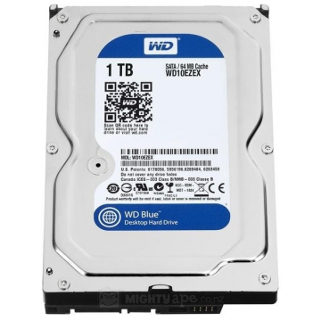 "HDD 1 To 3.5"" SATA - Western Digital - BLUE - Vitesse de Rotation 7200 Rpm - Cache Mémoire 64 Mo"